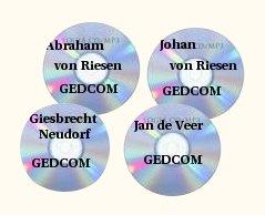 The 4 big GEDCOMs; Abraham von Riesen, Johann von Riesen, Giesbrecht Neudorf, and Jan de Veer Descendants.